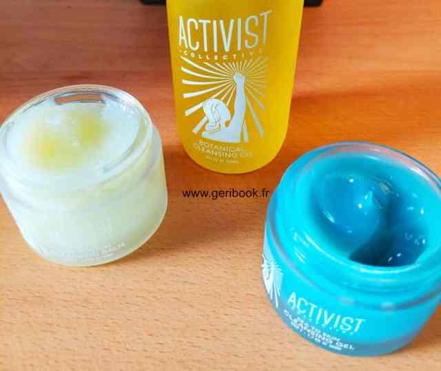 baume nettoyant végétal, baume nettoyage visage hydratant, huile nettoyante Activist cosmétiques