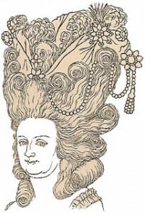 Georgian headdresses - Coiffure en beandeau d'amour, Author's Collection