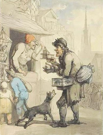"""Buy a Trap, a Rat-trap, Buy My Trap"" by Thomas Rowlandson, Public Domain"