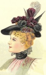 Hat fashions for March 1897 - Ladies' Large Hat