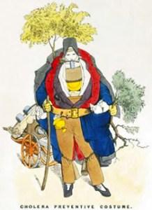 Ailments, Complaints, and Diseases - Cholera Preventative Costume, Public Domain