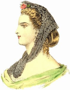 Hairstyles with Bonnets: Apartment Headdress, Author's Collection
