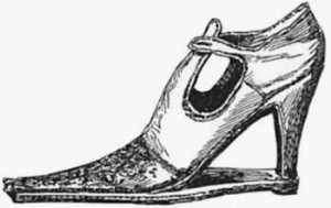 Shoe Worn by Catherine de Medici, Public Domain