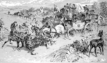 Horses in a Heap with the Leader Down, Public Domain