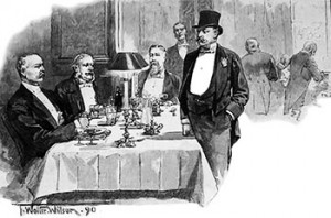 Gentlemen Dining At The Carlton Club In 1890s Public Domain