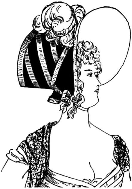 women's hats - empire style bonnet