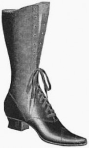 Ladies Bicycling Boot 1898, Public Domain