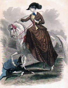 Equestrianism etiquette - Riding Sidesaddle, Public Domain