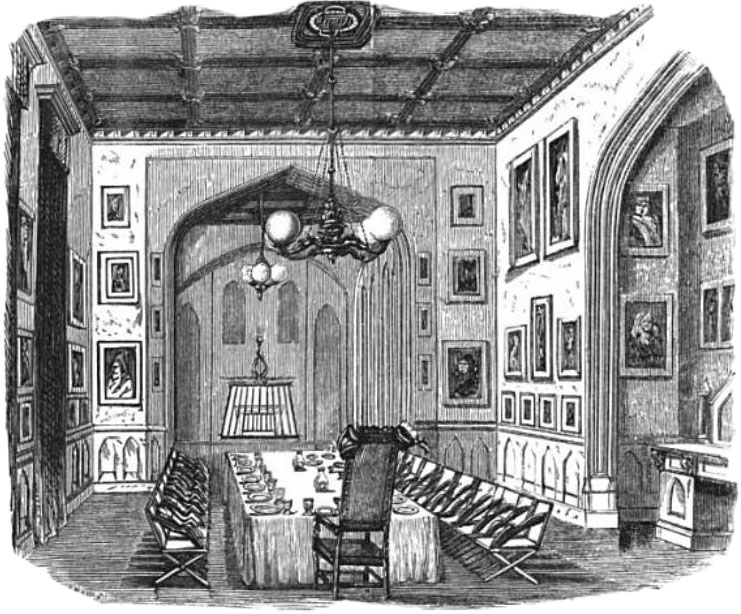 The dining room of the Sublime Society of Beef Steaks