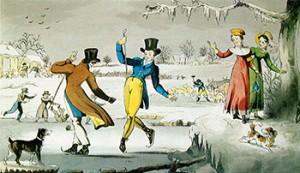 Skating in the 1820s, Courtesy of Wikipedia