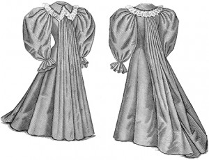 1896 Tea Gown, Author's Collection