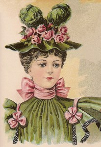 Hat Fashions for October 1896: Young Ladies' Hat, Author's Collection
