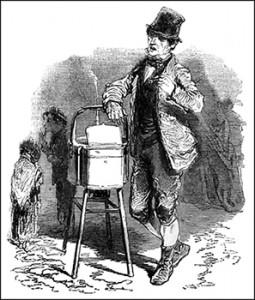 Baked Potato Seller, Public Domain