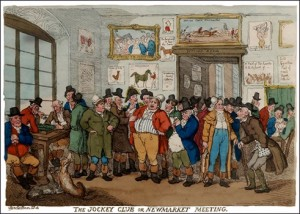 The Jockey Club by Thomas Rowlandson, Public Domain