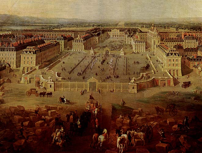 View of the Château de Versailles in 1722, Courtesy of Wikipedia