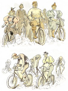 The Bicycle's Health Benefits (top) Versus Its Injurious Effects (bottom), Author's Collection
