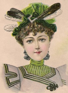 Hat Fashions for October 1897: Young Ladies' Toque