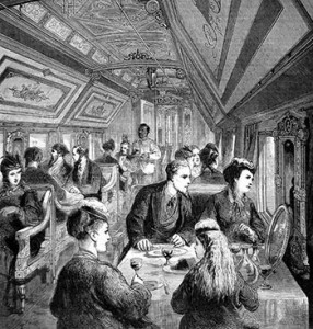 Victorian Traveling Etiquette Dining In A Railway Car 1870 Authors Collection