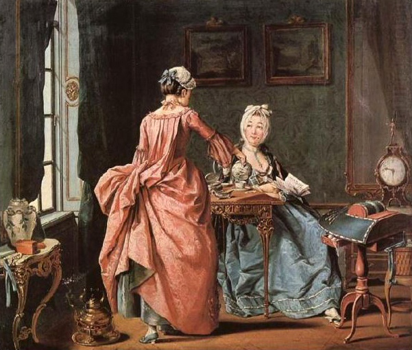 """""""The Chamber Maid Brings Tea"""" by Pehr Hillestrom"""