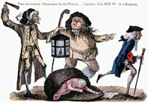 Body Snatcher Being Overtaken by the Watch, Courtesy of U.S. National Library of Medicine