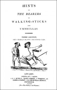 Cover to Hints to the Bearers of Walking-Sticks and Umbrellas, Public Domain