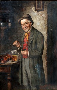 Man Taking Snuff in the 1800s, Courtesy of Wikipedia
