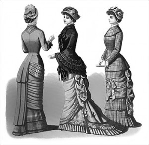 (Left to Right) Amicia Promenade Toilette, Kinsale Mantilla, and Otway Traveling Costume, Author's Collection