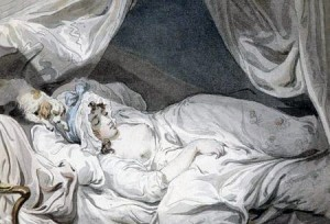 Mrs. Wheatly in her Nightcap by Francis Wheatly, Public Domain