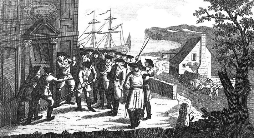Smugglers at the Custom House at Poole, Public Domain