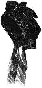 Ladies' Mourning Bonnet, Author's Collection