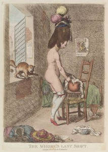 "One of Gillray's Racy Engravings titled ""The Whore's Last Shift"", Courtesy of Wikipedia"