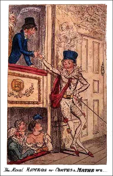 "Caricature of Robert ""Romeo"" Coates and his Rival, Public Domain"
