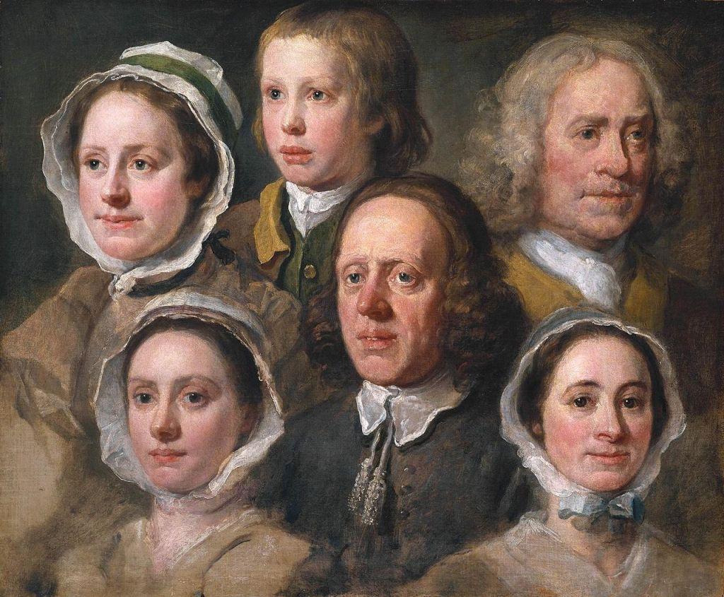 Upper-servant offices - William Hogarth's servants.