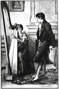 Mary Crawford Plays Her Harp, Public Domain