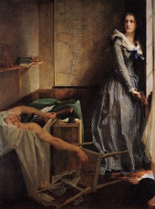 Charlotte Corday's Murder of Marat by Paul Jacques Aimé Baudry, Courtesy of Wikipedia