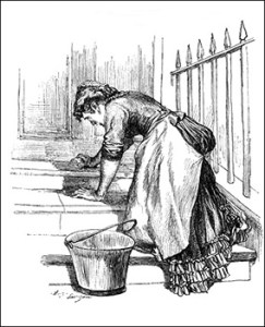 Kitchens - Scullery Maid, Public Domain