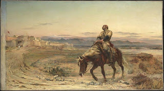 'Remnants of an Army' by Elizabeth Butler portraying William Brydon arriving at the gates of Jalalabad as the only survivor of a 16,500 strong evacuation from Kabul in January 1842, Courtesy of Wikipedia