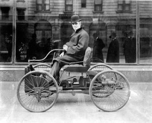 Henry Ford's First Horseless Carriage - The Quadricycle, Courtesy of Wikipedia