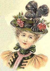 Millinery - ladies' round straw hat
