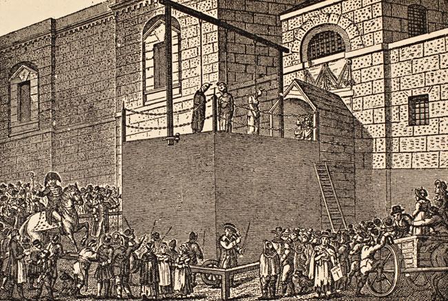 Georgian Era executions - hanging at Newgate