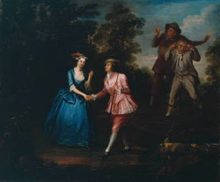 """Dressed in Pink Breeches, Charlotte Charke, Plays Damon,  a Role in Her Father's Pastoral Farce """"Damon and Phillida"""", Courtesy of Wikipedia"""