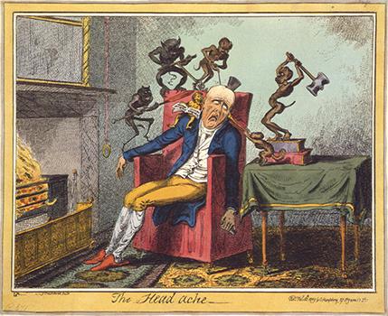 The Headache by George Cruikshank, Headaches