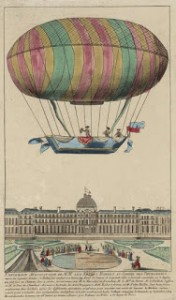 Another Illustration of the September 19, 1784, Lift Off, Courtesy of Bibliothèque nationale de France