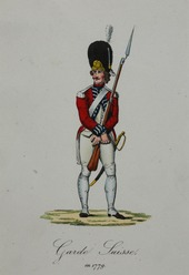 Swiss Guard in 1779 in France, Courtesy of Wikipedia
