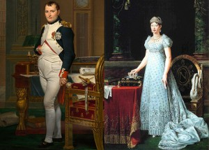 Napoleon and Marie Louise in 1812, Napoleon's marriage, Public Domain