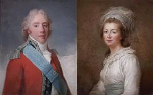 (Left to right) comte d'Artois and His Sister, Madame Élisabeth, Public Domain
