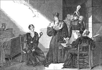 Interrogation of Louvel - Courtesy of Bibliothèque nationale de France