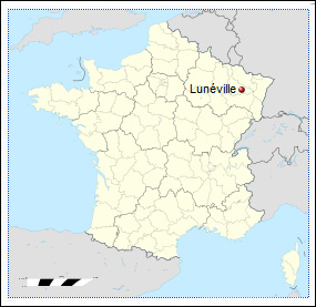 Site of Love, Murder, and Suicide in Lunéville in France, Courtesy of Wikipedia