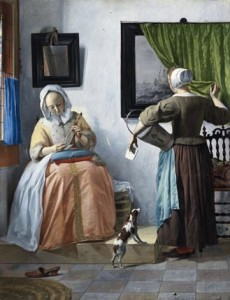 "Gabriel Metsu's ""Woman reading a Letter,"" c.1664-c.1666,  NGI.4537, Courtesy of National Gallery of Ireland"