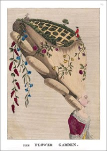 Passion for flowers - Satirical Image of One Outlandish Headdress titled the Flower Garden, Author's Collection